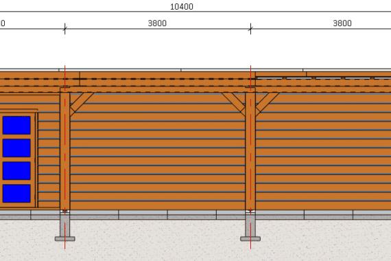 Hout-bouwer_Blokhut met overkapping groot aanzicht