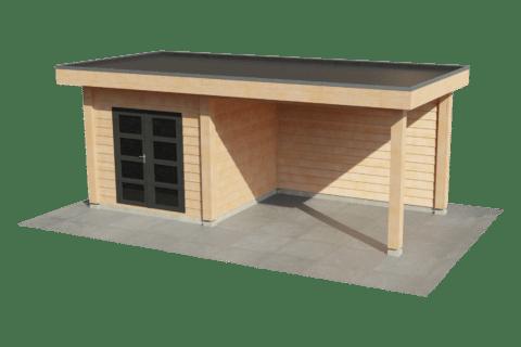 Blokhut met overkapping | Strak