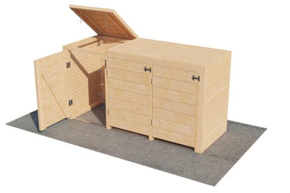 Container ombouw voor 3 kliko's