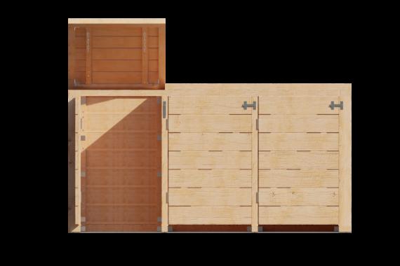 Container ombouw voor 3 kliko's vooraanzicht