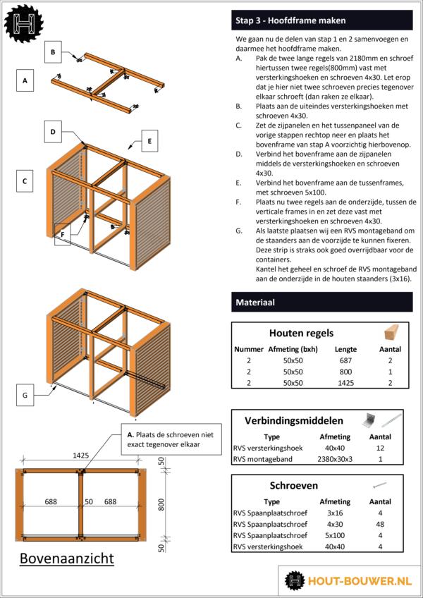 Container ombouw voorbeeld bouwtekening