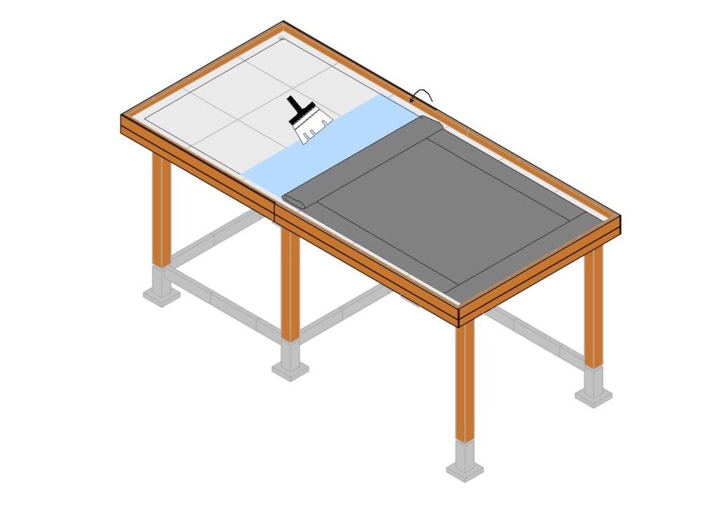 EPDM dakbedekking aanbrengen stap 7