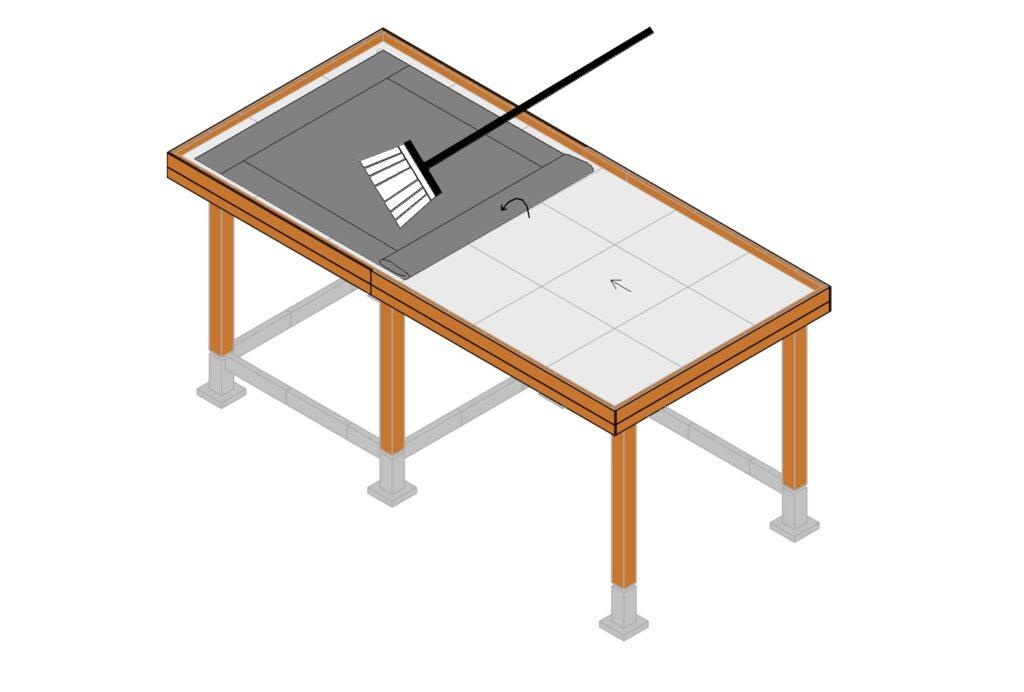 EPDM dakbedekking aanbrengen stap 8