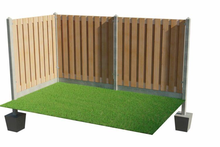 Zelf plaatsen: hout beton schutting